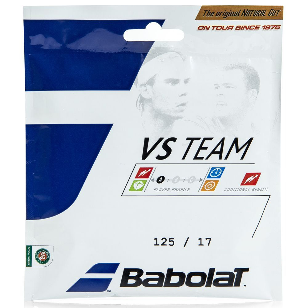 Set de Corda Babolat VS Team 1,25mm/17L Set Individual  - REAL ESPORTE