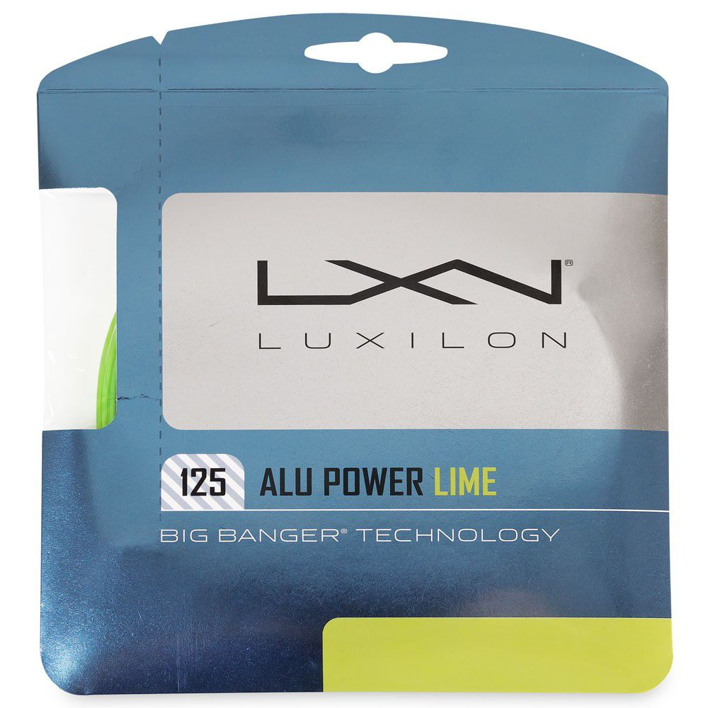 Set de Corda Luxilon Alu Power Lime 1.25MM/16L Set Individual  - REAL ESPORTE