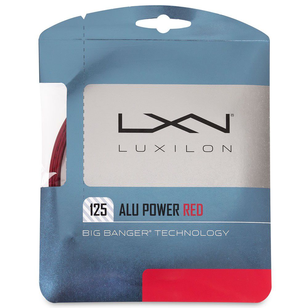 Corda Luxilon Alu Power 16L 1.25mm Red 12.2m - Set Individual  - REAL ESPORTE