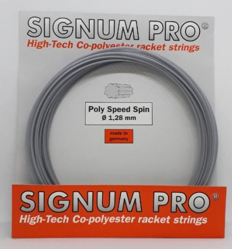 Set de Corda Signum Pro Poly Speed Spin 1.28 - 12M  - REAL ESPORTE