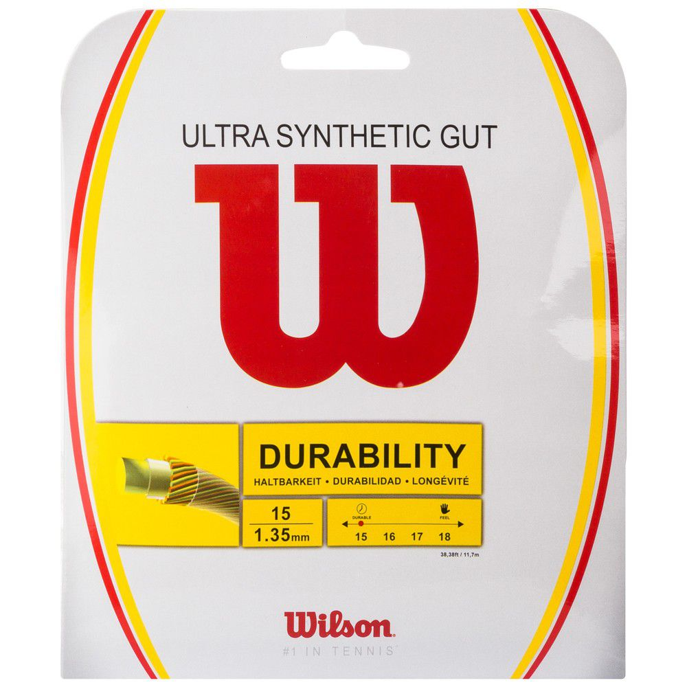Set de Corda Wilson Ultra Synthetic Gut 1.35mm/15L Set Individual  - REAL ESPORTE