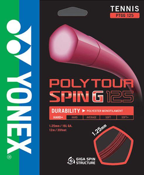 Set de Corda Yonex Polytour Spin G 1.25mm/16L Set Individual   - REAL ESPORTE