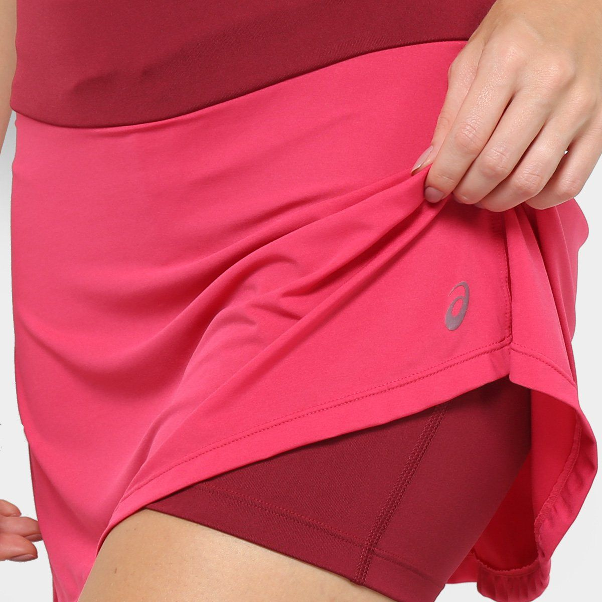 Short Saia Asics W Core Skort  - Pink  - REAL ESPORTE
