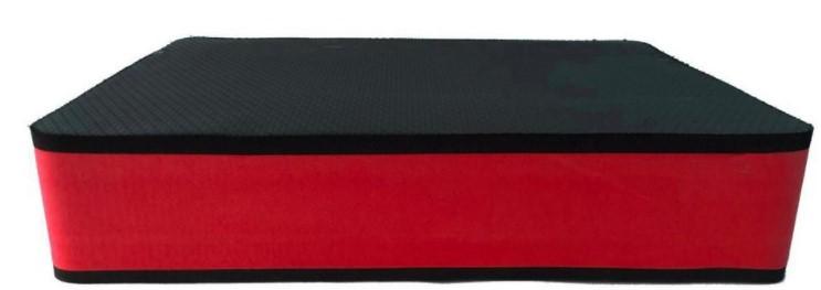 Step Grande 14mm  Preto/Vermelho  - REAL ESPORTE