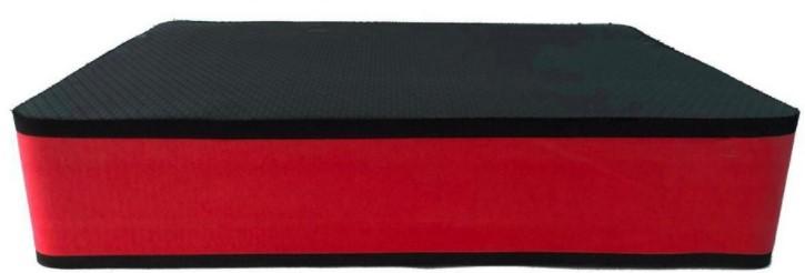 Step Pequeno 10mm  Preto/Vermelho  - REAL ESPORTE