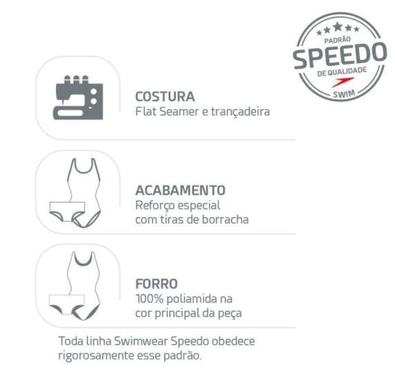 Sunga Hidroshort Contrast Speedo - Preto  - REAL ESPORTE