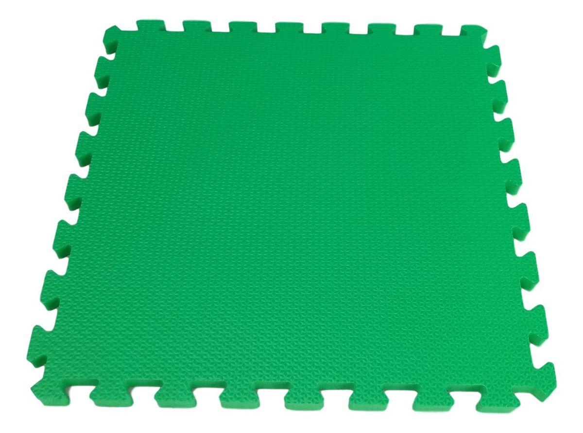 Tatame em Eva 1x1m- 10mm de Espessura com 1 Encaixe - Verde/Limão  - REAL ESPORTE