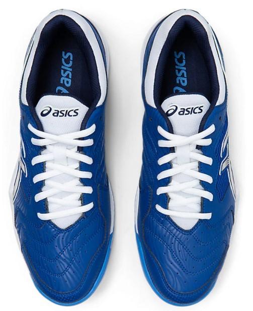 Tênis Asics Gel - Dedicate 6 Masculino - Branco e Azul  - REAL ESPORTE