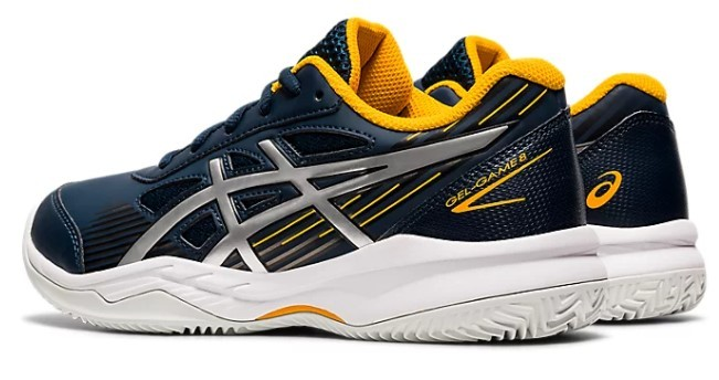 Tenis Asics Gel Game 8 Clay French Blue/Pure Silver  - REAL ESPORTE