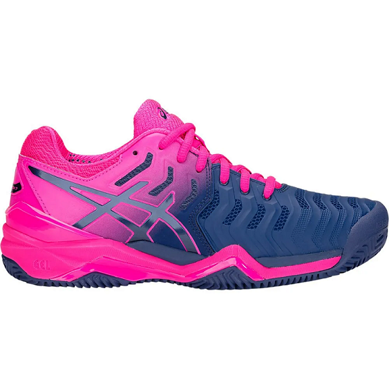 a969e5988 Tênis Asics Gel Resolution 7 Azul Rosa - Quadra Saibro - REAL ESPORTE
