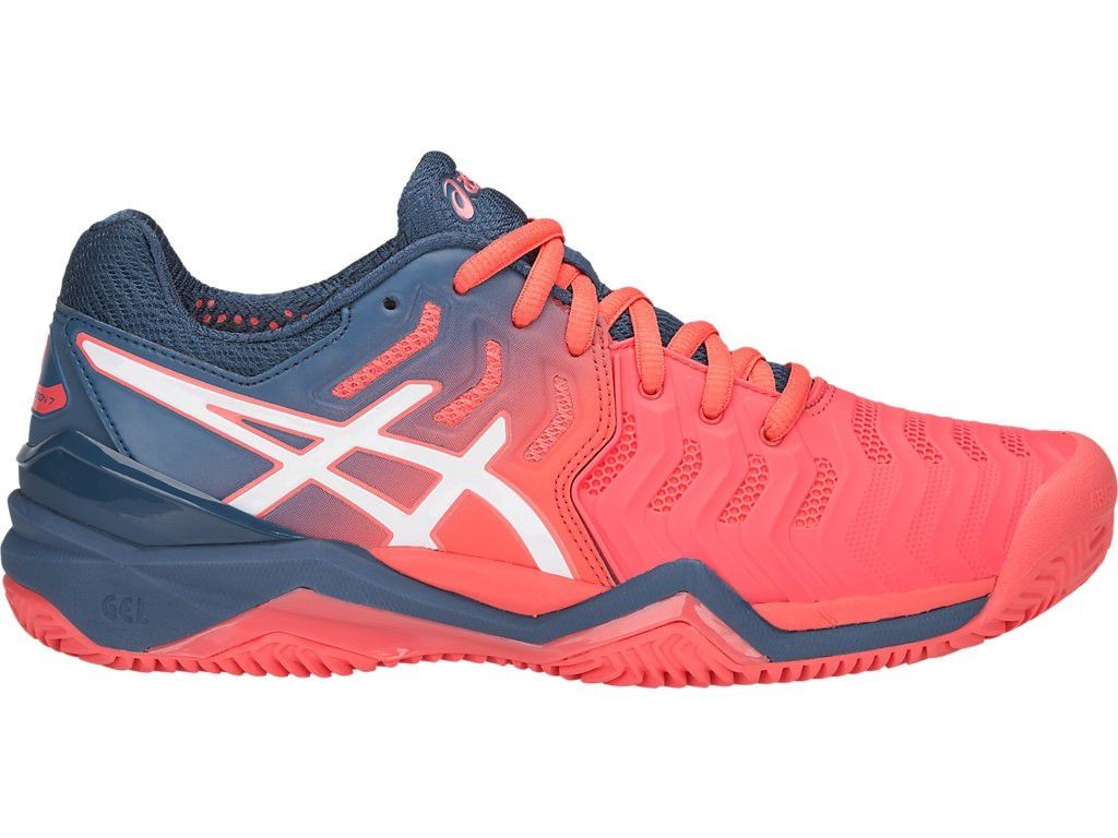 Tênis Asics Gel Resolution 7 Clay Rosa e Preto - REAL ESPORTE