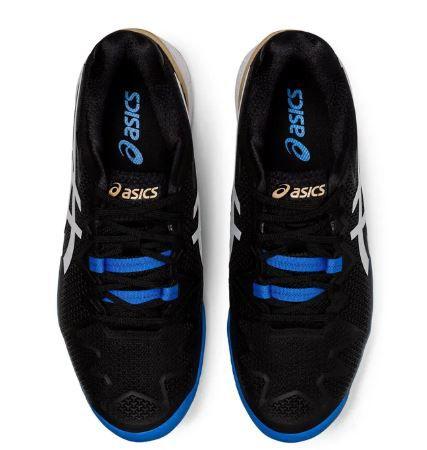 Tênis Asics Gel Resolution 8 Clay Masculino Black/White - Saibro  - REAL ESPORTE