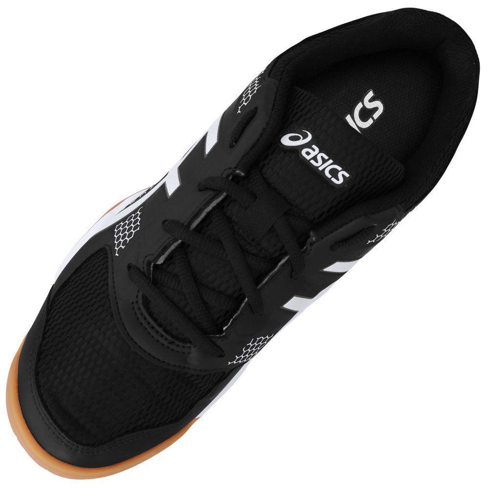 Tênis Asics Gel Rocket 8 A P/ Vôlei Squash Tênis Futsal Preto  - REAL ESPORTE