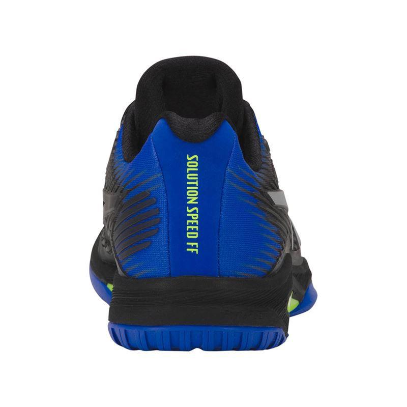 Tênis Asics Gel Solution Speed FF Preto Azul  - Quadra Rápida  - REAL ESPORTE