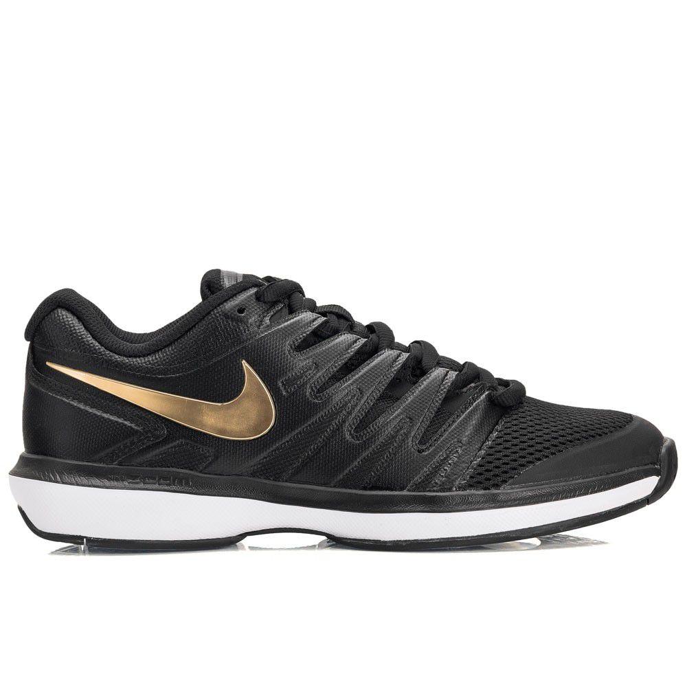 Tênis Nike Air Zoom Prestige HC Masculino - Preto e Dourado  - REAL ESPORTE