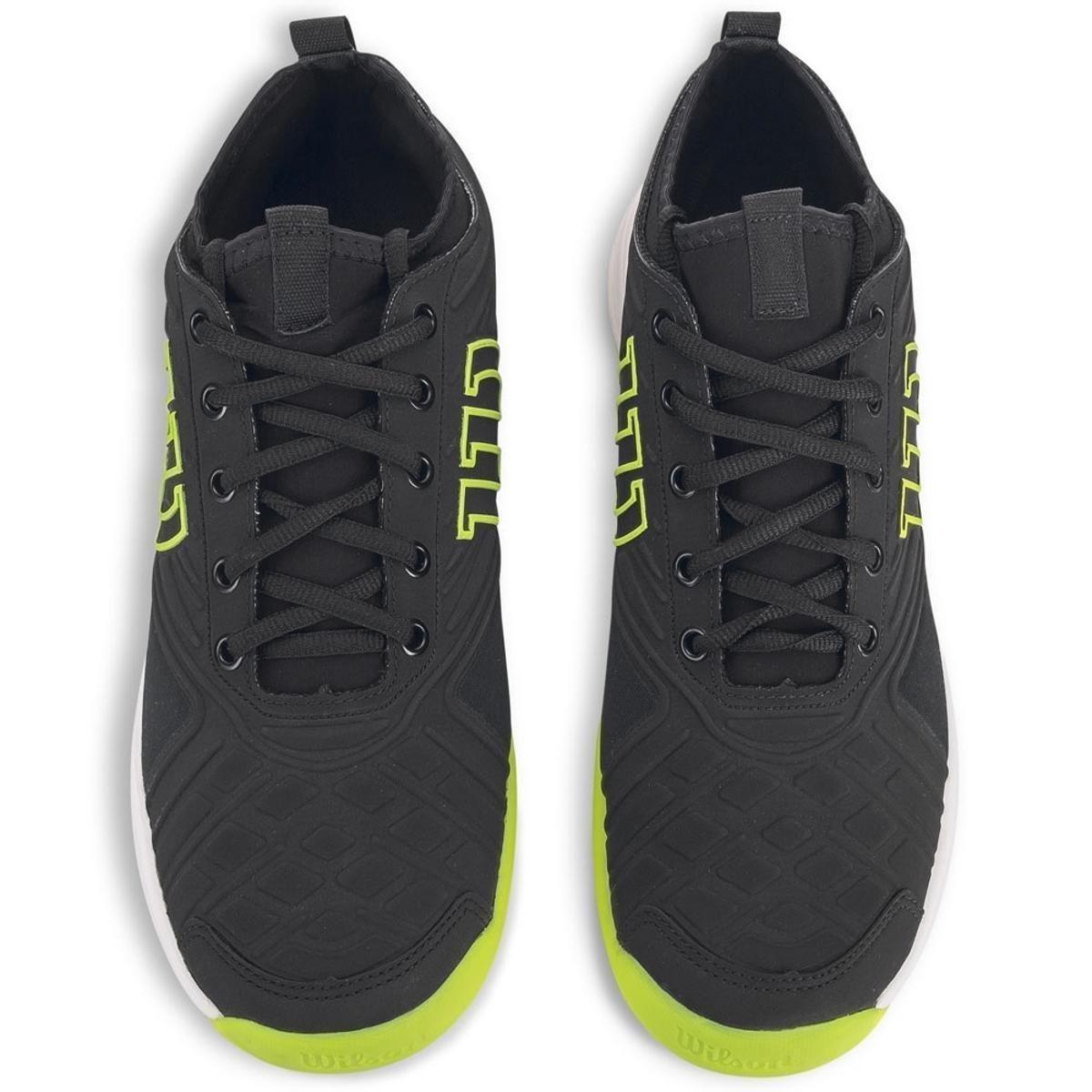 Tênis Wilson Pro Open - Preto/Verde Neon   - REAL ESPORTE