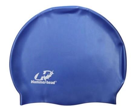 Touca de Natação de Silicone Hammerhead Slim Cap - Azul  - REAL ESPORTE