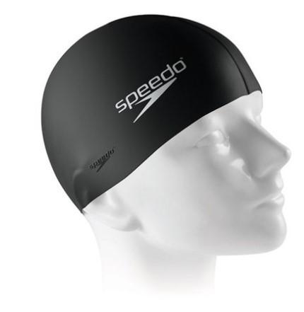 Touca de Natação Speedo Flat Swim Cap  - Preta  - REAL ESPORTE
