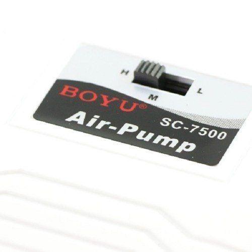Boyu Sc-7500 Compressor De Ar P/ Aquário 2 Saídas 3 Vel 110v