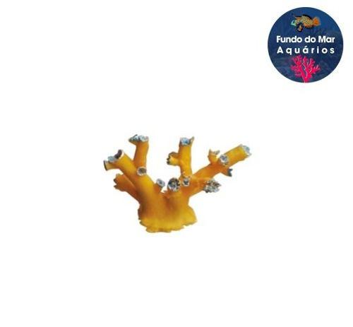 Boyu Enfeite De Resina Coral Sps Amarelo Cw-123