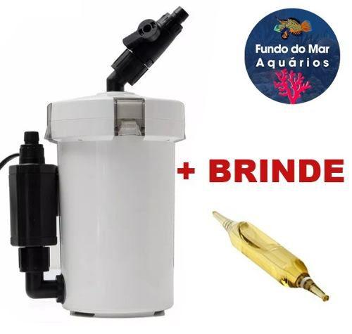 Filtro Mini Canister Sunsun 400 L/h Hw-602b 220v + Brinde