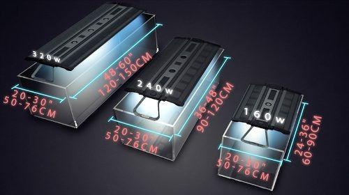 Luminária Maxspect Recurve 320w  p/ Aquários de 120 A 150cm