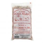 Cascalho de Rio Aqua Pedras para Aquários e Jardins N°4 -1kg