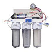Filtro Osmose Reversa 100gpd TDS + Manômetro Completo
