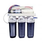 Filtro Osmose Reversa+deio +bomba Pressurizada 100gpd C/ Nfe Todo Transparente