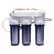 Filtro Osmose Reversa + Deio Membrana 50gpd 4 Estágios Todo Transparente