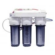 Filtro Osmose Reversa 100gpd 4 Estágios 380l/dia Todo Transparente