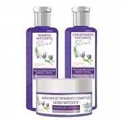 Kit Blond Matizante Flores e Vegetais - Shampoo+Cond+Máscara