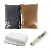 Kit Deionizadores Carvão +Resina MB400 +Caneta TDS +Perlon