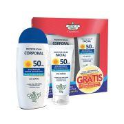 Kit Protetor Solar Corporal FPS 50 Flores e Vegetais - 200g