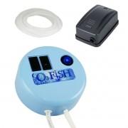 O3 Fish Gerador Ozônio Aquário + Compressor + Mangueira 127v