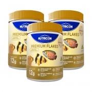 Ração Nutricon Premium Flakes 12g Peixes Tropicais - 3 unidades