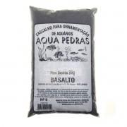 Substrato Basalto p/ Aquários e Jardins Decoração N°0 -25kg