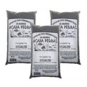 Substrato Basalto p/ Aquários e Jardins Decoração N°0 -3kg