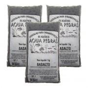 Substrato Basalto p/ Aquários e Jardins Decoração N°1 -3kg