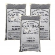 Substrato Basalto p/ Aquários e Jardins Decoração N°2 -3kg