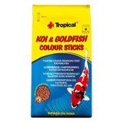 Ração p/ Peixes Tropical Koi Goldfish Colour Sticks Bag-800g