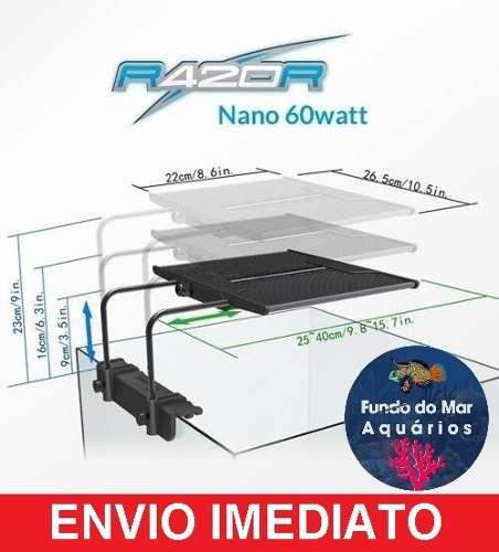Luminária Maxspect Razor Nano 60w 8000k Plantado C/ Nf-e