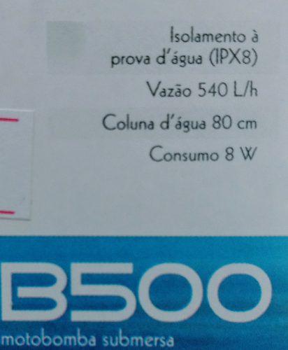 Sarlo Better Bomba Submersa B500 500l/h 127v