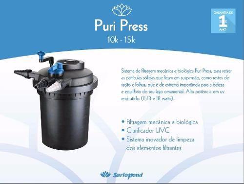 Filtro Pressurizado Sarlo Pond 10k -puri Press Uv 13w - 110v