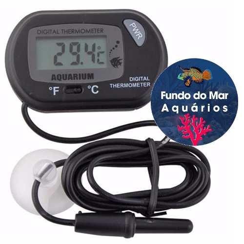 Soma Termômetro Digital P/ Aquário, Terrário, Adega, Piscina