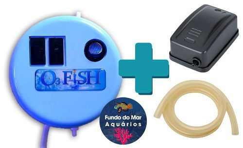 O3 Fish Gerador Ozônio Aquário + Compressor + Mangueira