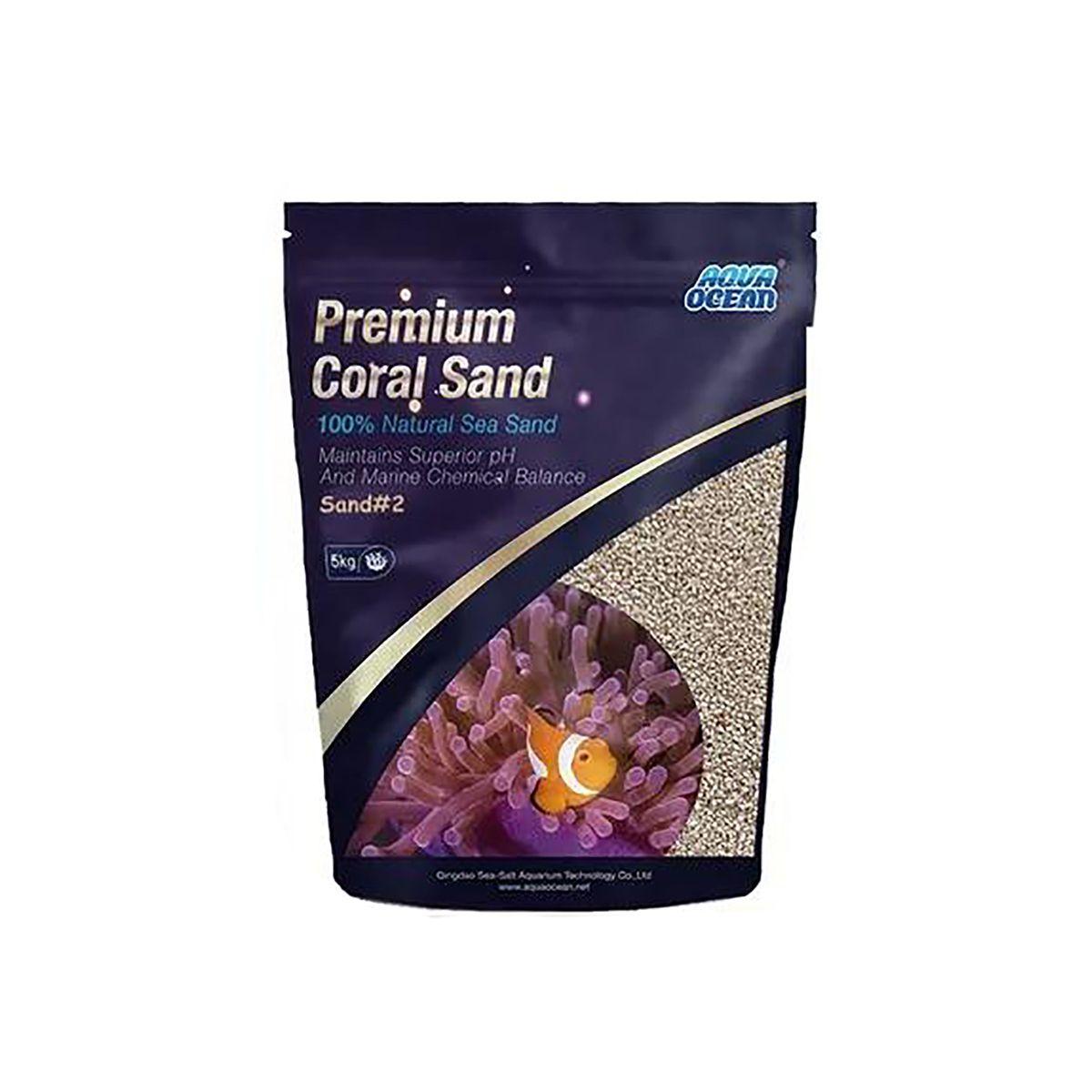 Substrato p Aquários Marinhos Aqua Ocean Coral Sand #2 -5 KG