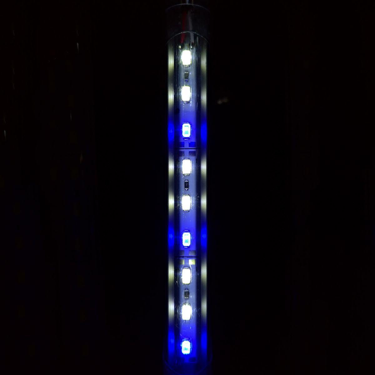 Luminária Aqualumi LED 2 BRANCOS / 1AZUL 20CM + Fonte