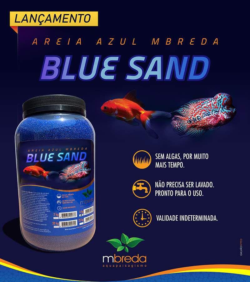 Mbreda Blue Sand 20 Kg Areia Azul Decorativa