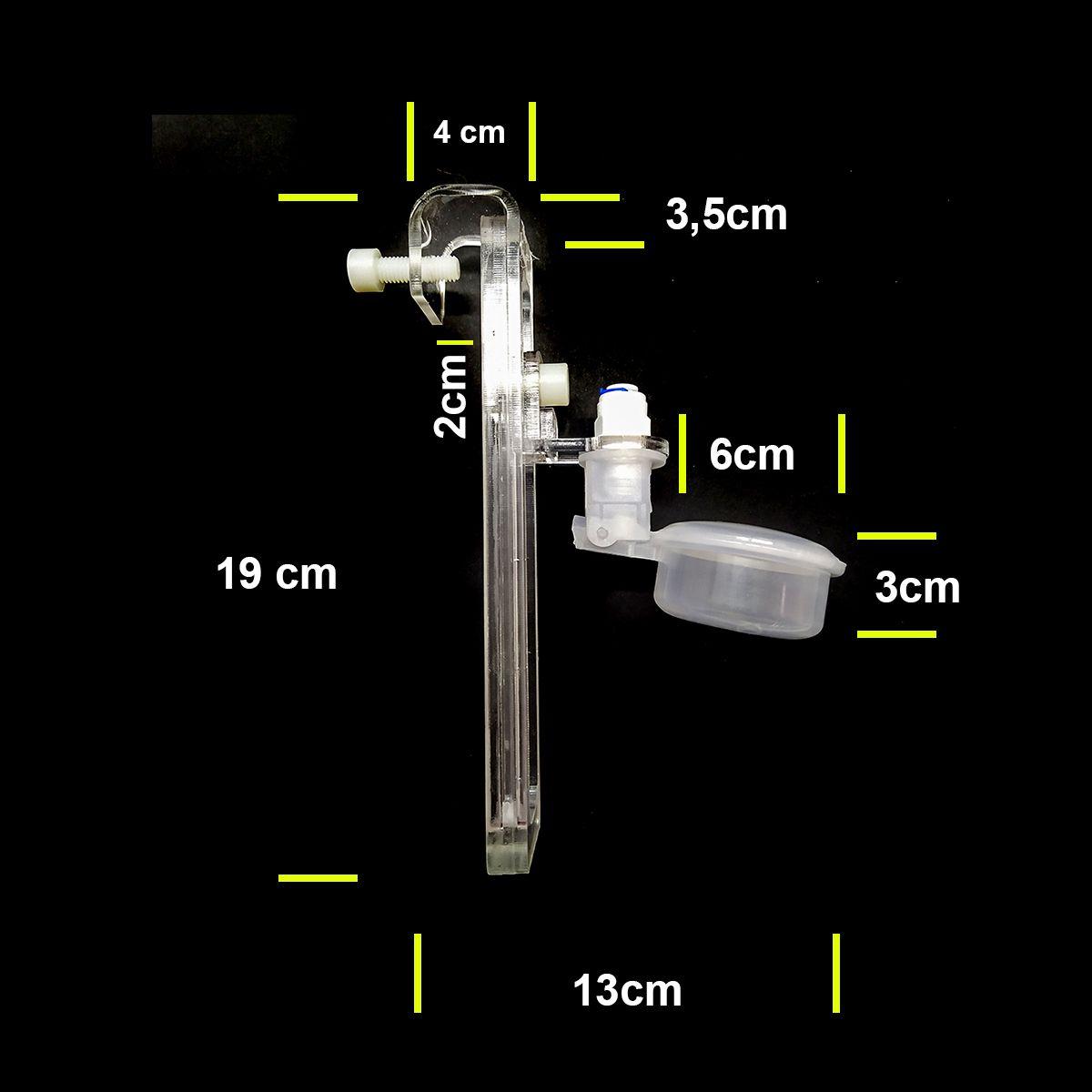 Boia de Nível Simples Regulagem 1- 15cm - RRJ Acrílicos
